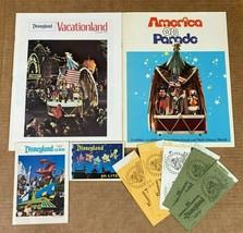 Vintage 1976 DISNEYLAND SOUVENIR LOT Booklet GUIDE Program VACATIONLAND ... - $69.29