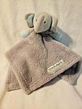 Blankets Beyond Baby Elephant Security Blanket Lovey Grey Blue Feet Ears - $24.73
