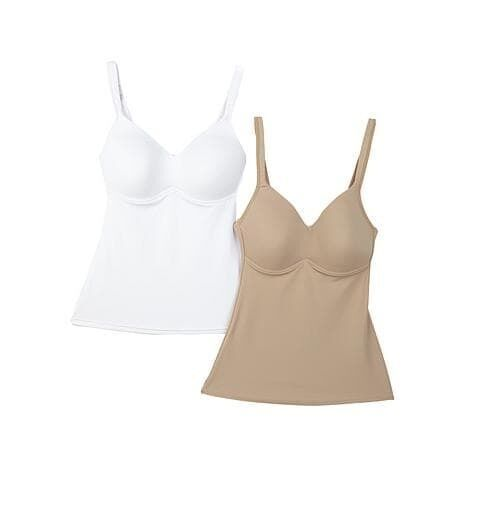 "Rhonda Shear ""Everyday"" Molded Cup Camisole 2 pack image 5"