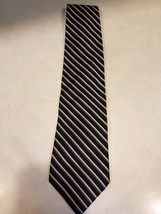"Brooks Brothers ""Makers"" 100% Silk Blue Striped Pattern Neck Tie - $12.99"