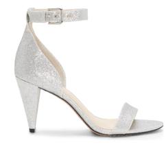 Vince Camuto Radient Silver Cashane Cone-Heel Dress Sandals, Us 9 Medium - $65.34