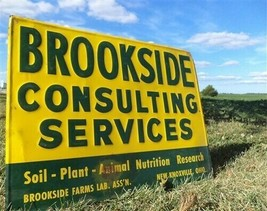 Brookside Consulting Services New Knoxville OH Vintage Metal Advertising... - $149.00
