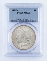 1885-O $1 Silver Morgan Dollar Graded by PCGS as MS-63! Great Morgan! - $74.24