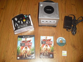 Platinum Nintendo GameCube Console Bundle w/ New BLACK Controller & Hook... - $89.09