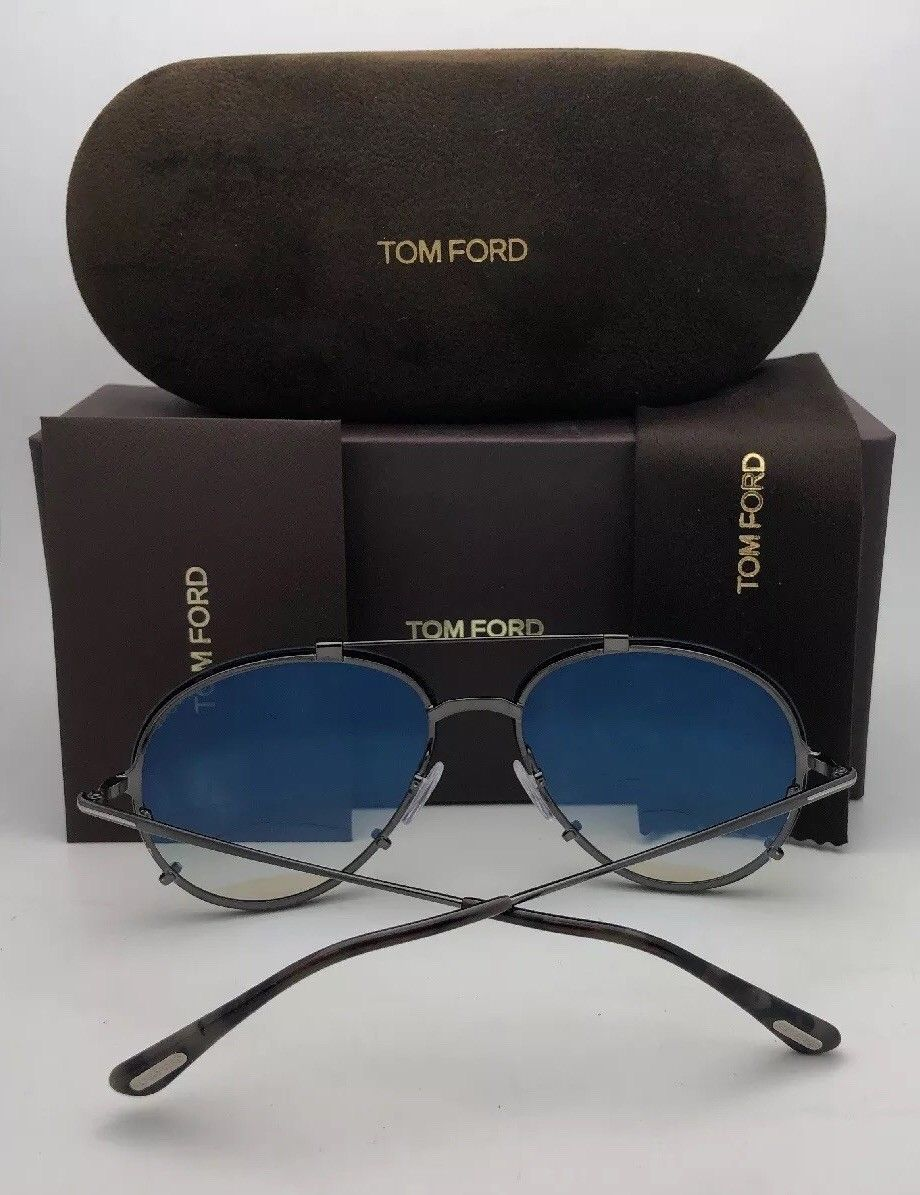 New TOM FORD Sunglasses DUNNING TF 6 772 68-6 130 Gold & Black Frame w/Grey Lens