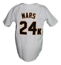 Bruno Mars 24K Hooligans Baseball Jersey Button Down White Any Size image 2
