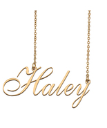 Haley Custom Name Necklace Personalized for Mother's Day Christmas Gift - $15.99+