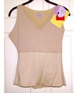 SPANX (Hide+Sleek) Lace Trim Sleeveless V-Neck Shapewear Top Beige Size ... - $34.88