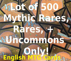 Magic: The Gathering 500 Mythic Rare, Rare, and Uncommon Cards ONLY - Lo... - $44.99