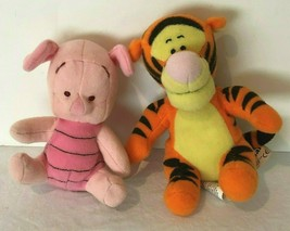 """Fisher Price Disney Winnie the Pooh Tigger 5"""" and Piglet 4"""" Lot of 2 Plush Toys - $9.99"""