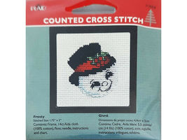 Plaid Counted Cross Stitch Kit With Frame, Set of 4 image 3