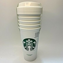 STARBUCKS 16 Oz Reusable Cups To Go Set of 5 Mermaid Green Logo Collectible - $25.73