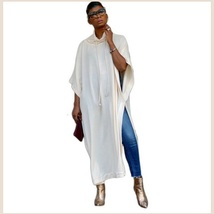 Long Loose Cashmere Cape Tunic Hoodie Open Slit Sides Five Colors And Four Sizes image 4