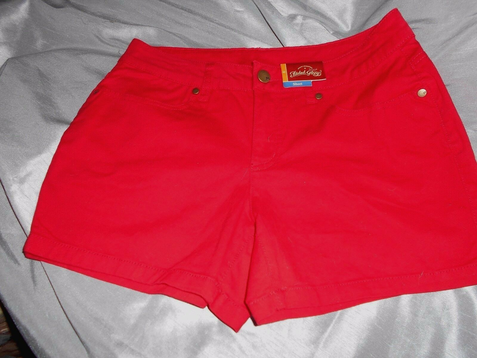 LADIES RED SHORT BY FADED GLORY   - YOU PICK SIZE - - $7.50