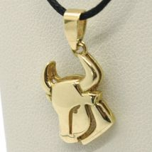 SOLID 18K YELLOW GOLD ZODIAC SIGN PENDANT, ZODIACAL CHARM, TAURUS MADE IN ITALY image 3