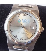 NRCS 30 Year Service Ladies Steel Analog Quartz Watch w/ Silver Band, Ru... - $30.49