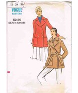 Vintage Vogue 8255 Coat Sewing Pattern - $10.95