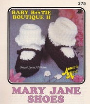 Mary Jane Shoes, Annie's Attic Baby Bootie Boutique Crochet Pattern Leaf... - $3.95
