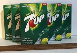7UP (Lot of 6) Singles To Go Drink Mix Sugar-Free Keto Vegan LEMON LIME - $16.85