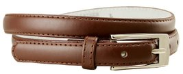 "Women's Skinny Fashion Leather Dress Casual Belt 3/4"" = 19mm wide (Brown, Large) - $4.94"