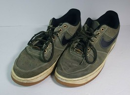 Nike Air Force 1 Low Olive Black Gum Light Brown Shoes 488298-206 Size 8.5 - $46.27