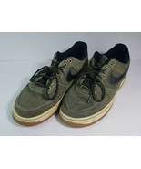 Nike Air Force 1 Low Olive Black Gum Light Brown Shoes 488298-206 Size 8.5 - $54.44