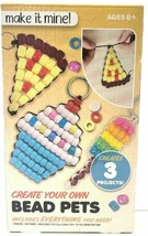 Bead Work Make It Mine Create Your Own bead Pets Projects DIY Key Ring NEW Box