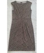 Talbots Womens Animal Print Sleeveless Pleated Career Sheath Dress Sz S - $24.74