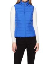 Medium 8-10 Women's White Sierra Summit No-Sew Down Vest Dazzling Blue NEW