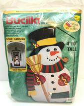 Bucilla Xmas Snowman Door Hanging Kit Felt Applique Frosty Seasons Greet... - $72.57