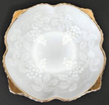 Anchor Hocking Milk Glass Collectible Tableware Bowl Grape Design With G... - $9.99