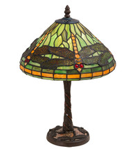 "17"" High Dragonfly W/Twisted Fly Mosaic Base Table Lamp - $540.00"