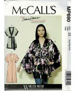 McCalls Pattern M7790/MP690 Misses Loose Fitting Jacket w/Belt Sizes16-2... - $7.18