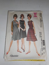 Vintage 1960s Simplicity Size 10 6959 dress jumper and blouse cut pattern - $13.85
