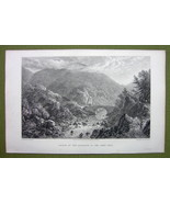 GERMANY Saxony Entrance to Okertal - 1820s Copper Engraving Cpt BATTY - $7.65