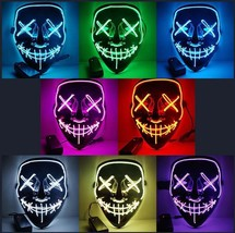 Halloween Mask LED Light Up Party Masks The Purge Election Year Great Fu... - $14.00