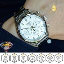 SEIKO Mens Watch Chronograph Silver Dial Stainless Steel Bracelet Quartz SSB221 - $216.31