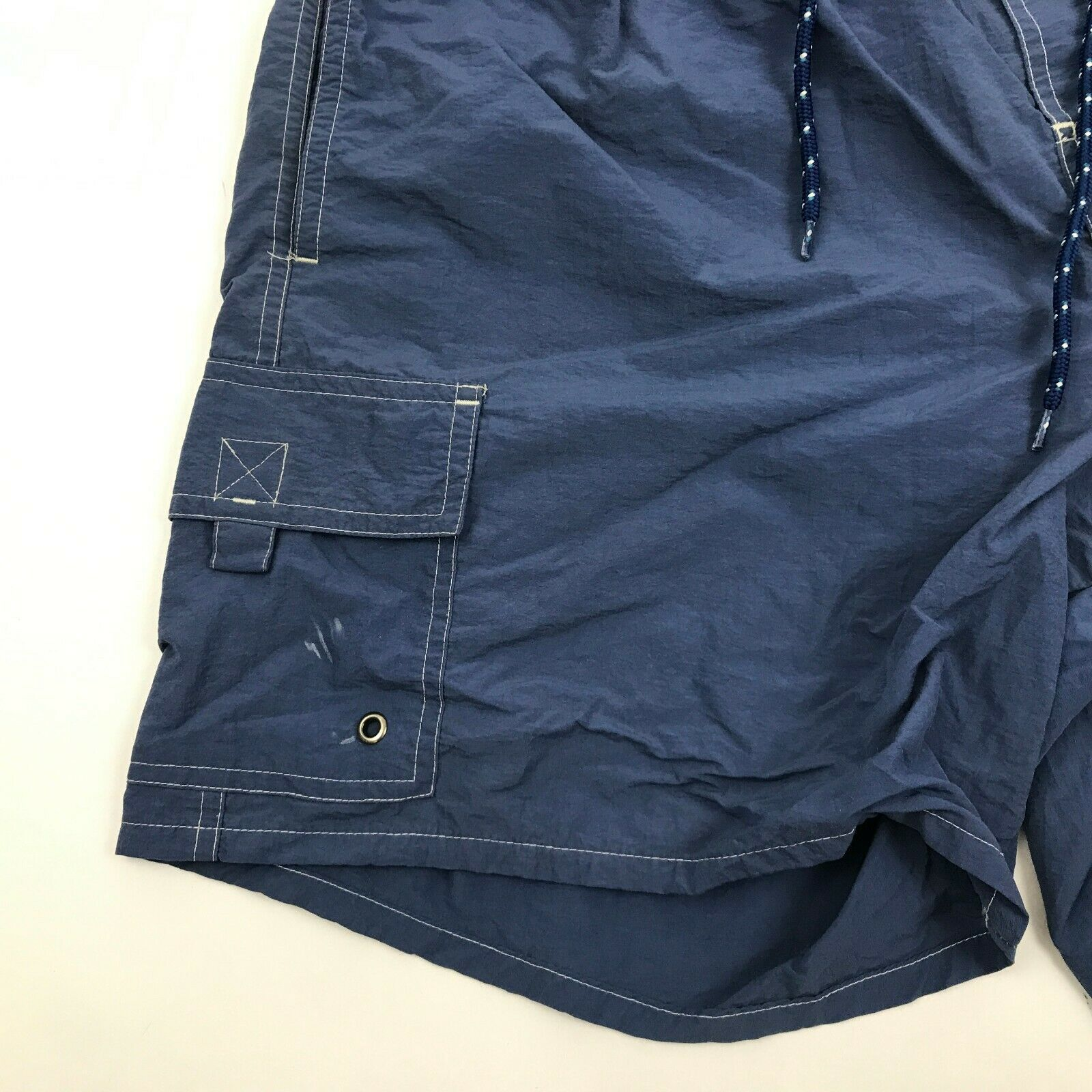 Primary image for VINTAGE Catalina Swim Trunks Size Medium M Blue Swimsuit Cargo Pockets Lined Men