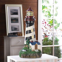 """Lighthouse Solar Garden Statue 19"""" High Shines for up to 8 Hours - $53.95"""