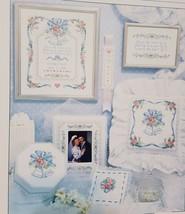 Wedding Bells Cross Stitch Leaflet Book Dimensions 1988 Karen Avery 156 Sampler  - $14.99