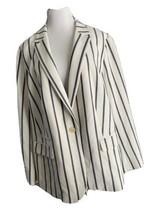 Talbots striped Blazer Navy Nautical Jacket Women 24 White Blue Plus Career - $34.64