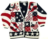 Stitches In Time Womens S Cotton America Cardigan Independence Day July 4