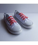 Twisted Brand Womens Size 10 White Elasticized Slip On Sneakers Red Band... - $19.28