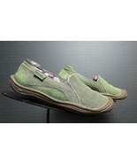 Women's KEEN Green Canvas Eco-Friendly Casual Cool Loafer Sz. 35/5 EXCEL... - $37.13