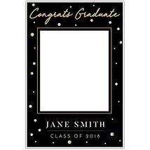 Gold Black Class of 2018 Graduation Social Media Selfie Frame Poster - £12.38 GBP