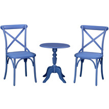 Island Gale Outdoor Patio Furniture Nylon 66 3pc Bistro Set W/ Foldable ... - $299.00