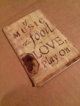 """Vintage Style Refrigerator Magnet Music Quote 3.75"""" - $4.99"""