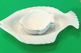 Vintage Fish Platter (1971) and 4 Dishes (Holland Mold) - $29.02