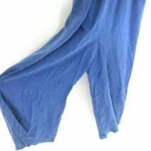 M - Cloth & Stone Anthropologie Blue Halter Tie Neck Sleeveless Jumpsuit 0000MB image 5
