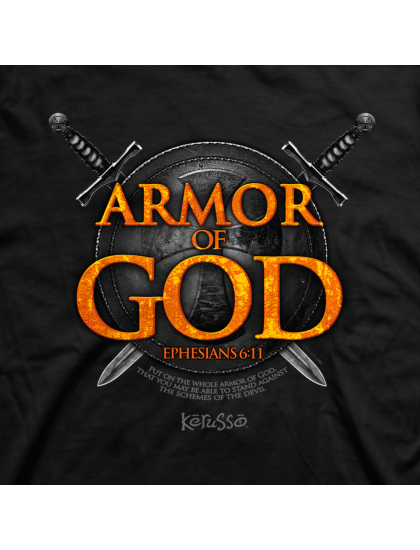 "Christian Mens T-Shirt ""ARMOR OF GOD"" by Kerusso - NEW"